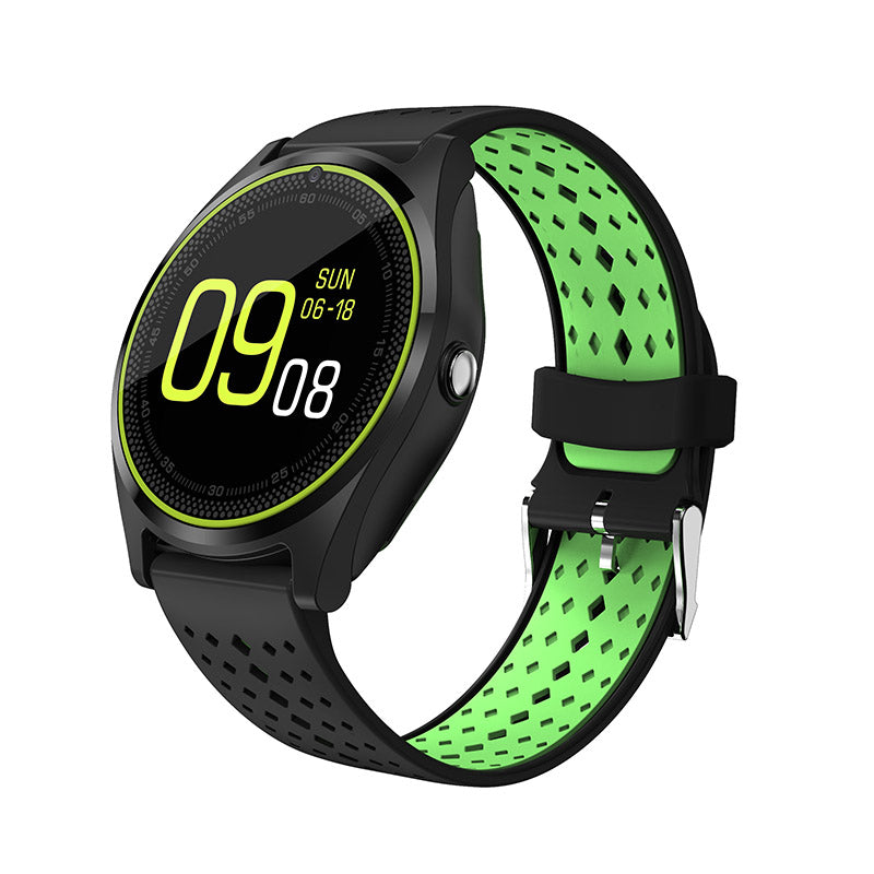 Costbuys  Smart Watch SIM Card Wristwatch for Android iPhone IOS Women Men Stop Watch Camera Sport Dial Call Clock - Green