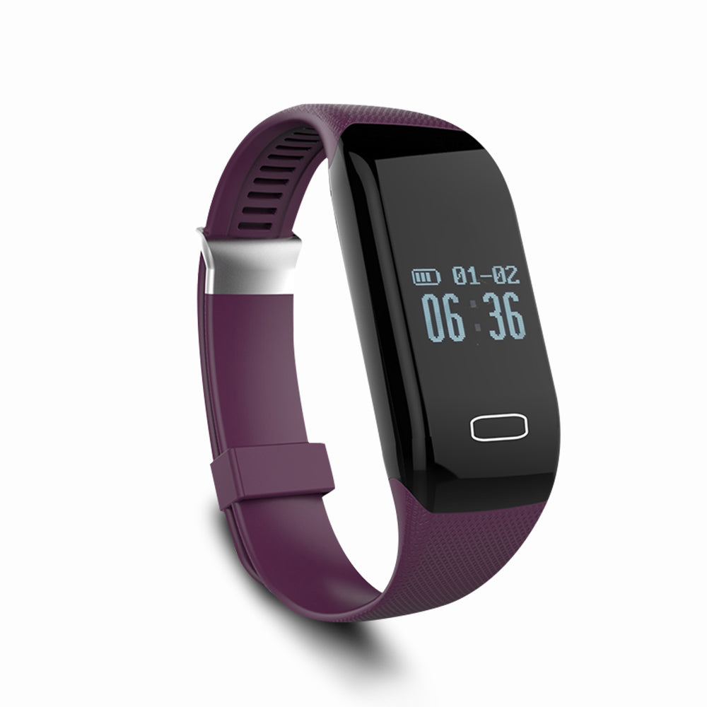 Costbuys  Sport Smart Wristband for iphone IOS Android Samsung Heart Rate Monitor Smart Watches for Women Men Clock - Purple