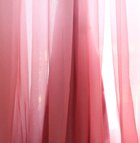 Costbuys  Change Color Gradient Blue Window Curtain High Black Out Double Layer Tulle + Black Out Lining Fabric for Living Room