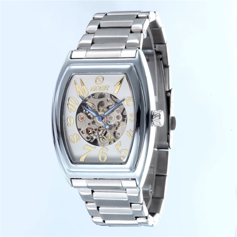 Costbuys  Luxury Brand Watches Tonneau Automatic Mechanical Watches Men Fashion Casual Skeleton Wrist Watches relogio masculino