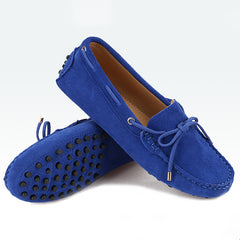 Genuine Leather Woman Flat Shoes Casual Loafers Women Shoes Flats Moccasins Ladies Driving Shoes