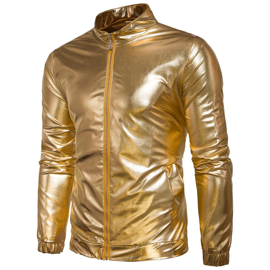 Costbuys  Gold/sliver Air Force Fly Pilot Jacket Party Airborne Flight Tactical Bomber Jacket Men Winter Aviator Motorcycle Down