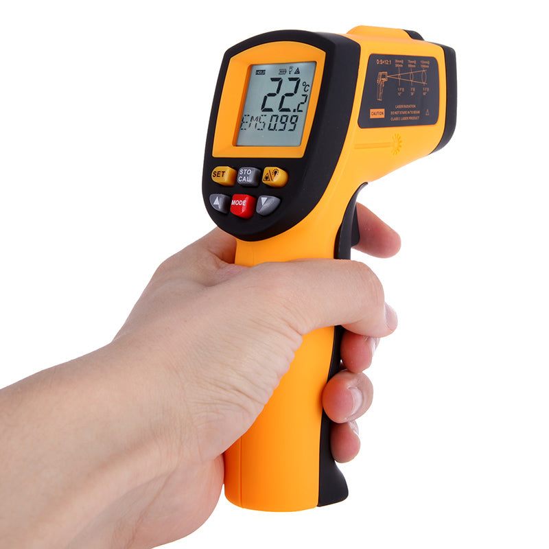 Costbuys  Good Quality IR Infrared Thermometer Digital LCD Laser Temperature Tester Diagnostic Gun 12 : 1 Non-Contact hygrometer