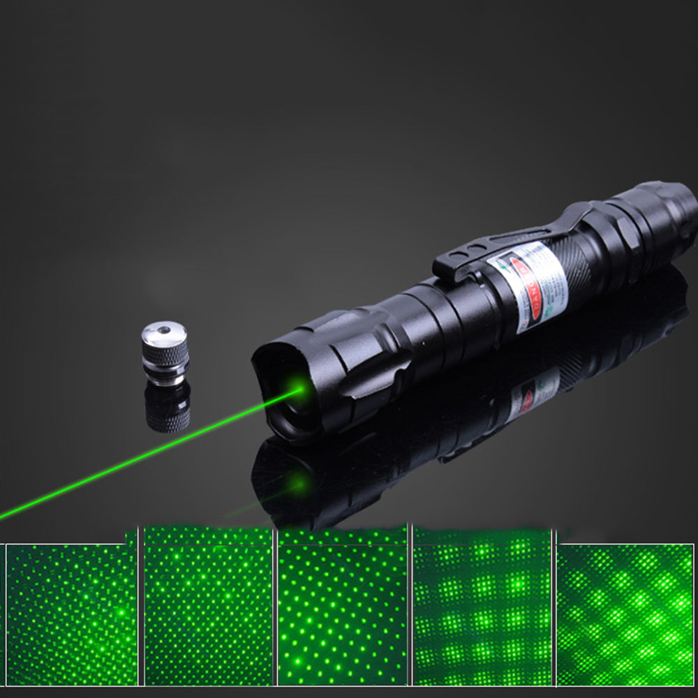 Costbuys  Green Laser Light Pointer Laser Sight Outdoor Travel Hunting Laser Pointer Powerful Focus Visible With Battery Charger