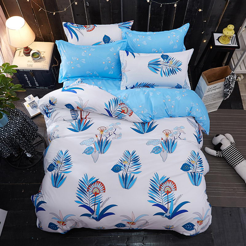 Costbuys  Green lemon Winter Bedding Sets Full King Twin Queen King Size 4Pcs Bed Sheet Duvet Cover Set Pillowcase Without Comfo