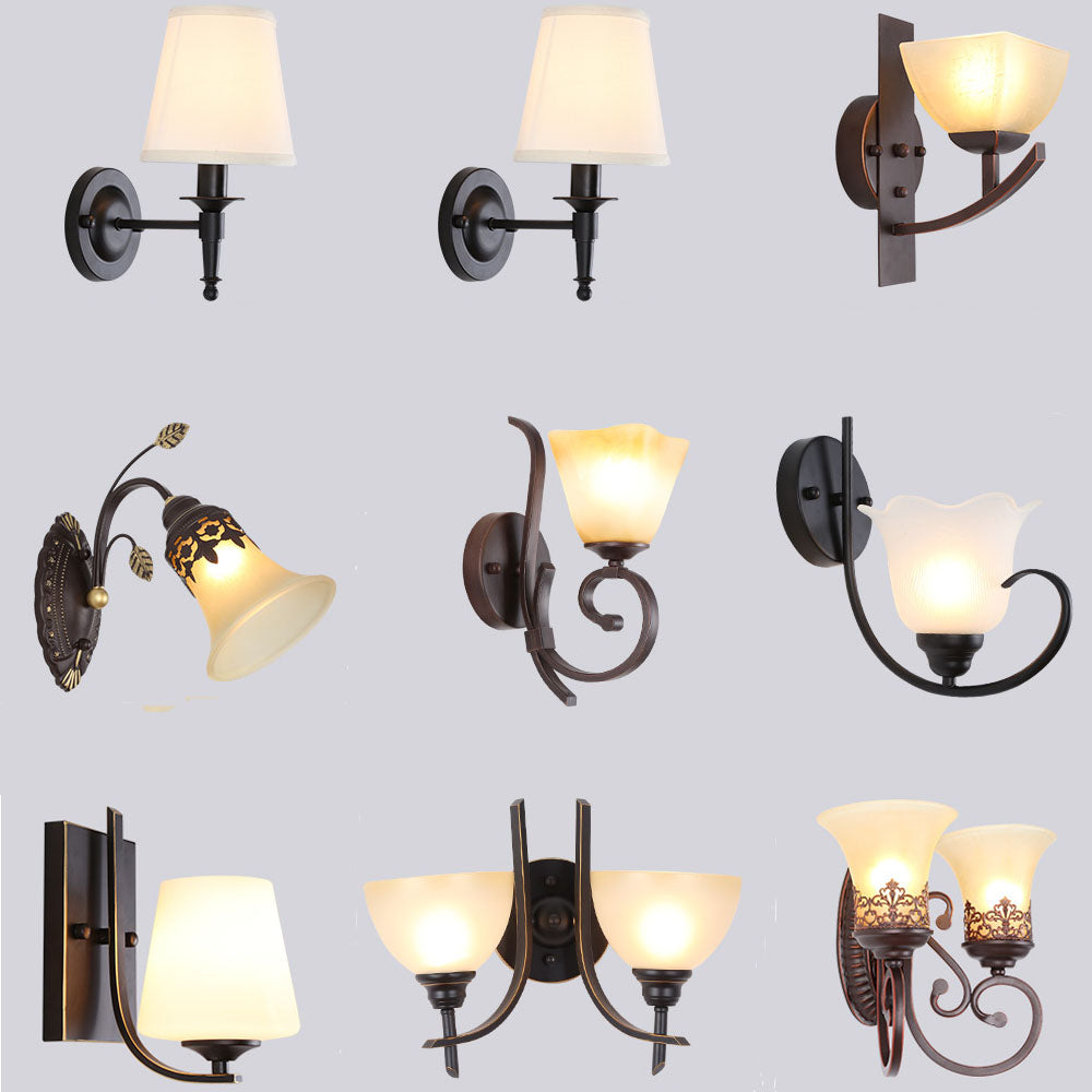 Costbuys  LED Wall Lamp Vintage Indoor Lighting Antique Lamp Luminarias 110-220V Bedside Lamp Industrial Wall Lights Nordic Lamp