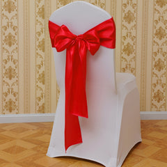 Banquet Chair Back Cover Bow Sash Wider Bows Wedding Party Festival Supplies