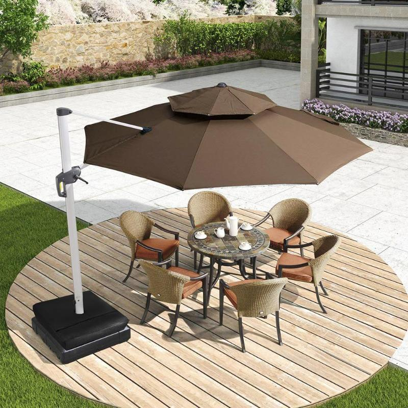 Costbuys  1 PCcs Black 18x18in Square Weight Sand Bag for Outdoor Patio Sunshade Parasol Umbrella Base Garden Supplies Shade Acc