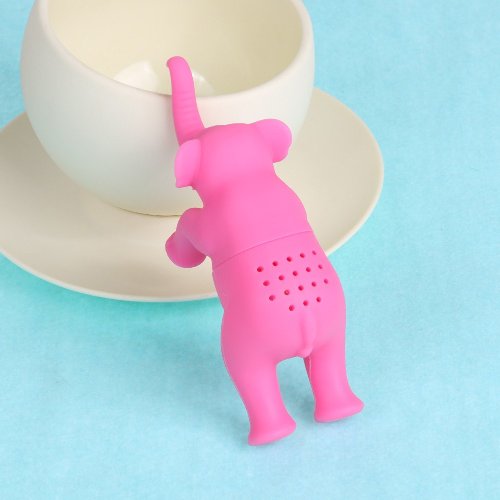 Costbuys  Useful Tea Infuser Tea Leaf Pink Elephant Creative Tea Strainer Filter Diffuser Silicone Kitchen Tools Gadgets Tea Inf