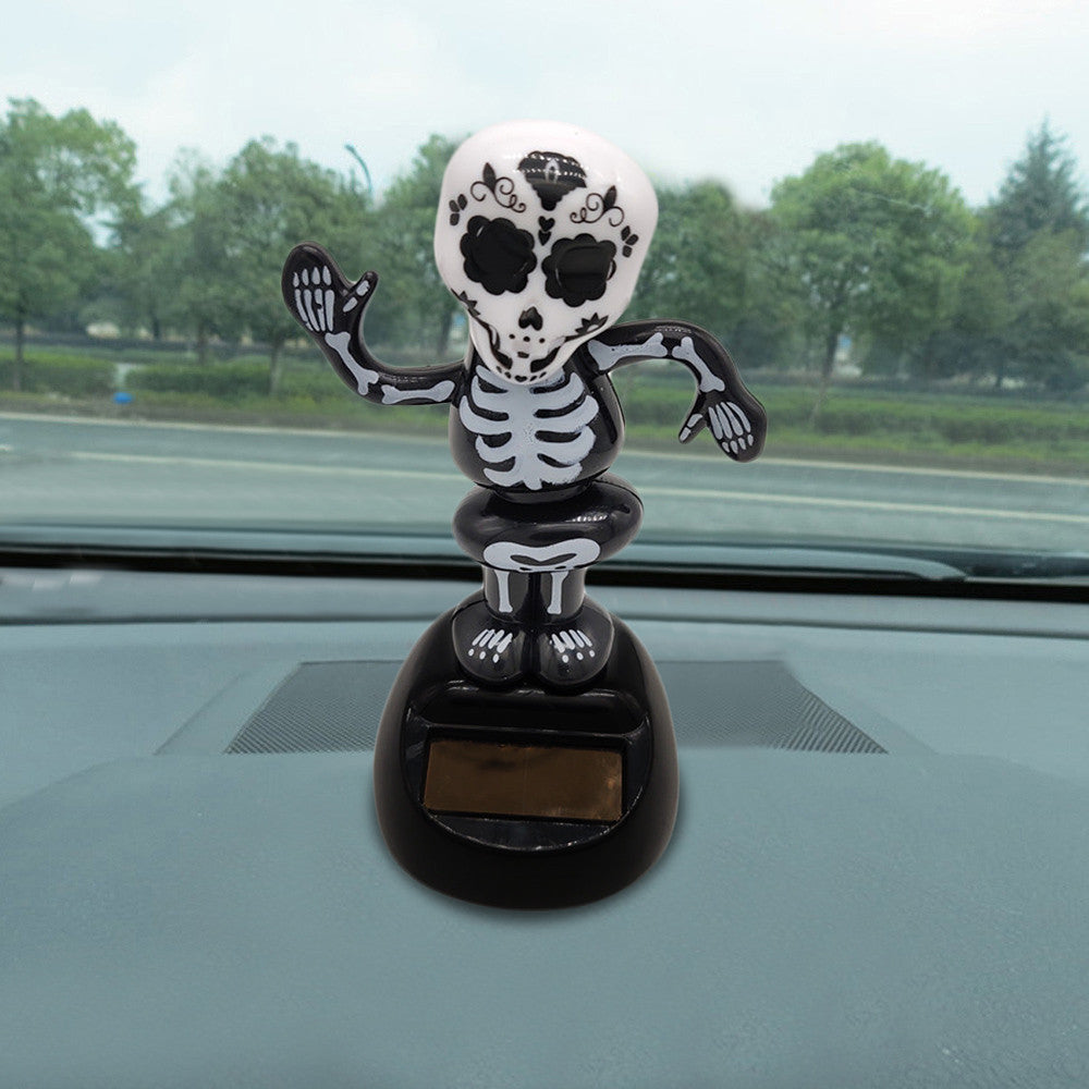 Costbuys  11*5cm ABS plastic Solar Powered Dancing Halloween Swinging Animated Bobble Dancer Toy Car Decor