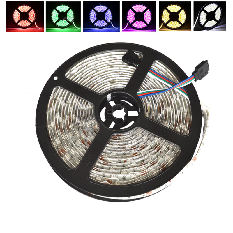 Costbuys  LED Strip 5M 5050 Waterproof Rope RGB 12V TV LED Tape IP65 IP68 Double Row Flexible Stripe Ribbon tiras Single Color -