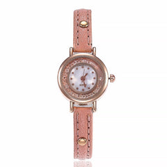 Fashion Mini Design Quartz Wristwatches Casual Women Dress Watch Leather Female Clock