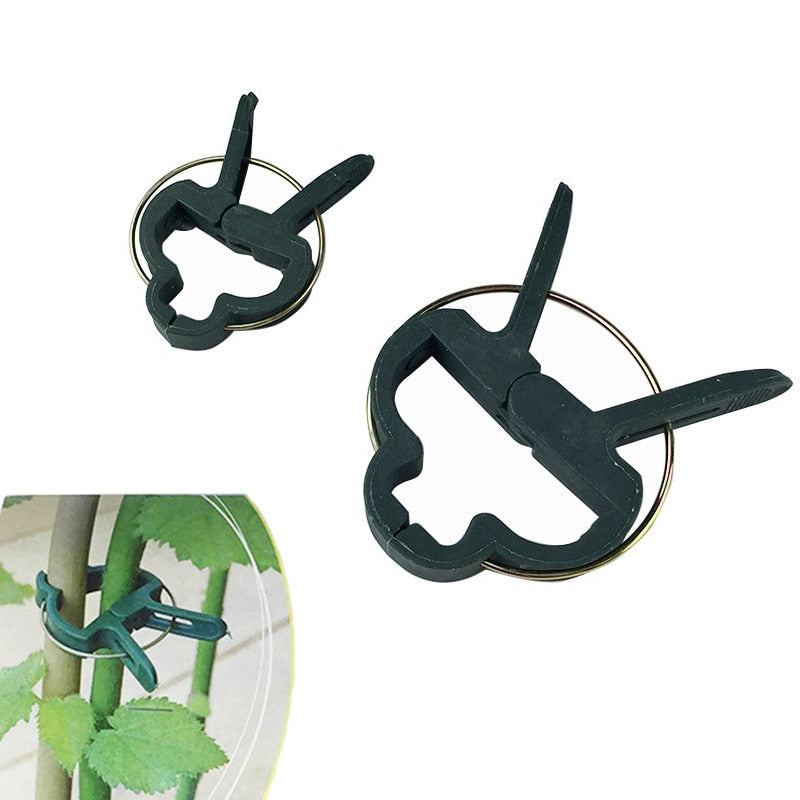 Costbuys  20Pcs Garden Plant Support Clip for Trellis Twine Greenhouse Plant Clips Garden Supplies 2 sizes Garden Tools Set