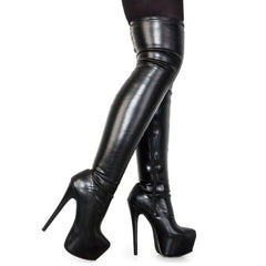 Plus Size 33-48  fashion platform over the knee boots women sexy super high heels shoes woman party boots