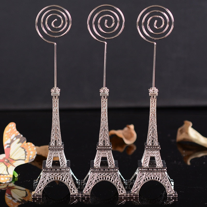 Costbuys  Vintage Eiffel Tower  Metal Craft Office Table clip card message paper memo home decoration accessories