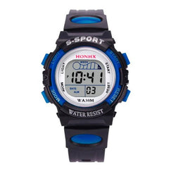 Digital watches Waterproof Children Boys Digital LED Sports Watch Kids Alarm Date Watch Gift