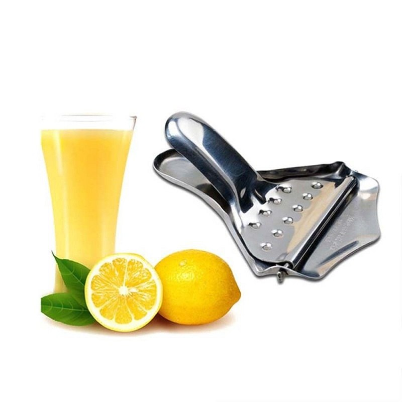 Costbuys  Metal Manual Hand Press Lemon Squeezer Stainless Steel Fruit Lime Orange Juicer Citrus Wedge Tools Kitchen Bar Accesso