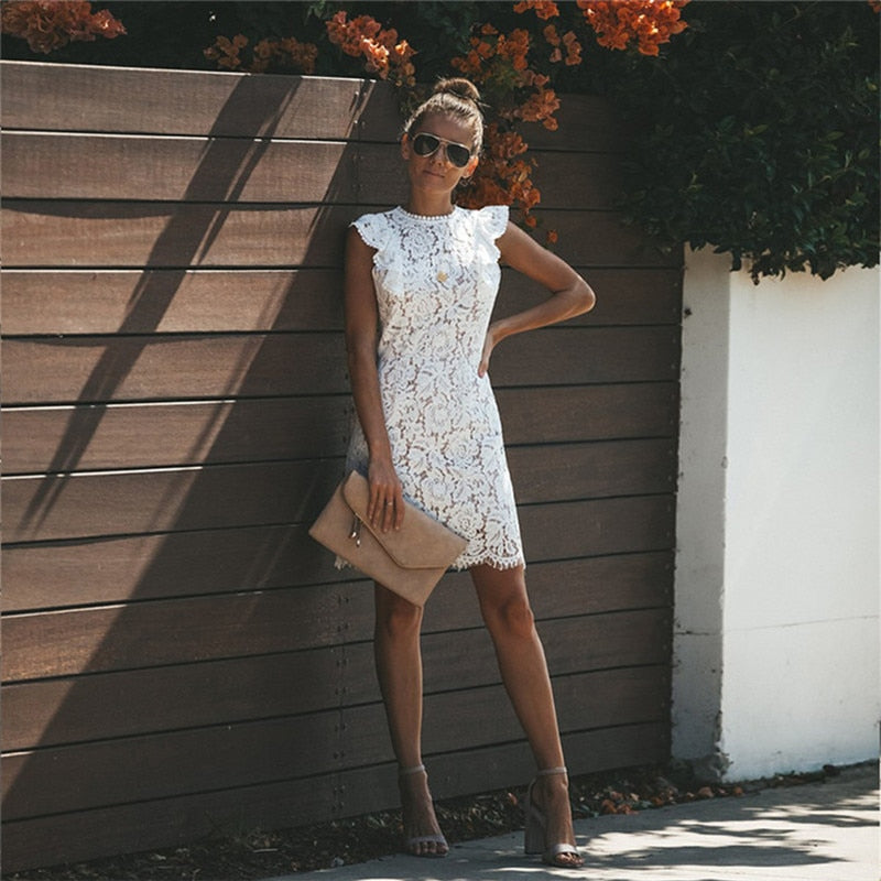 Women Summer Sexy Lace Vintage Casual Elegant Dresses Women Party Night