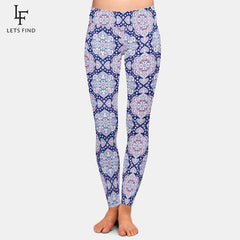 Leggings High-Waist Print Sexy Milk-Silk Plus-Size Women Womens Leggings Pants