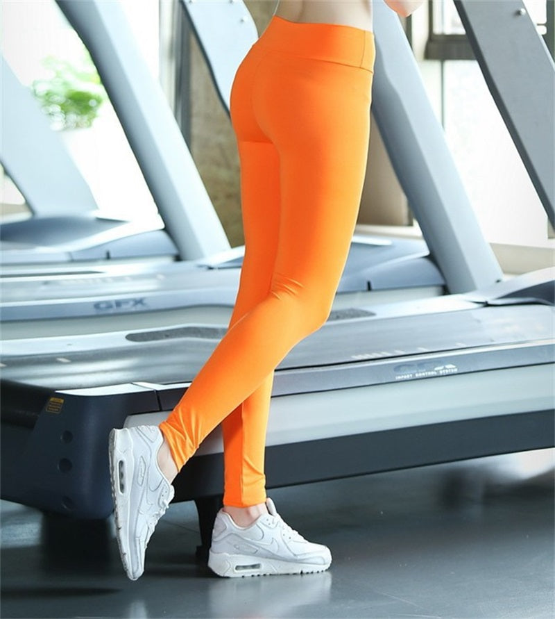 Fitness-Clothes Leggings Women Athleisure Slim High-Waist Female Ruched Bodybuilding Womens Leggings Pants