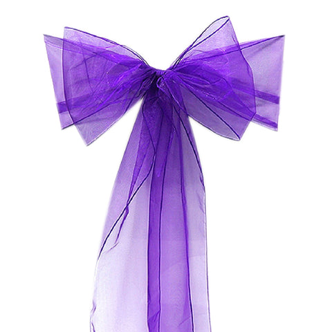 25pcs Chair Sashes Bow Cover Chair Sashes Tulle For Weddings Events &Party Banquet Christmas Decoration