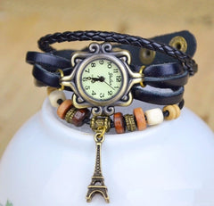 Leather Bracelet Watch Women Ladies Dress Quartz Wrist Watches