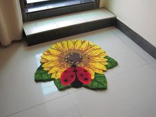Delicate Sunflower Shaped Area Rug,Elegant Rugs Flower,Modern Living Room Rugs And Carpets