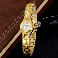 Top Quartz Watch Women's Gold Bracelet Watches Casual Dress Steel Women Wristwatch