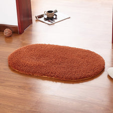 Red wine Color Oval Rug Carpet Living Room Carpet Kids Room Rugs Soft and Fluffy Warm Purple Green Grey 9 Color