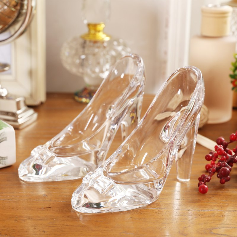 Costbuys  1pcs lead-free glass high heel glass swan home decor accessory wedding party decor swan&heel wedding gifts - shoes wit