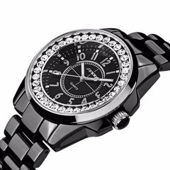 Casual Watches Unisex Quartz watch men women Analog Watches luxury look women Rhinestone dress wristwatch