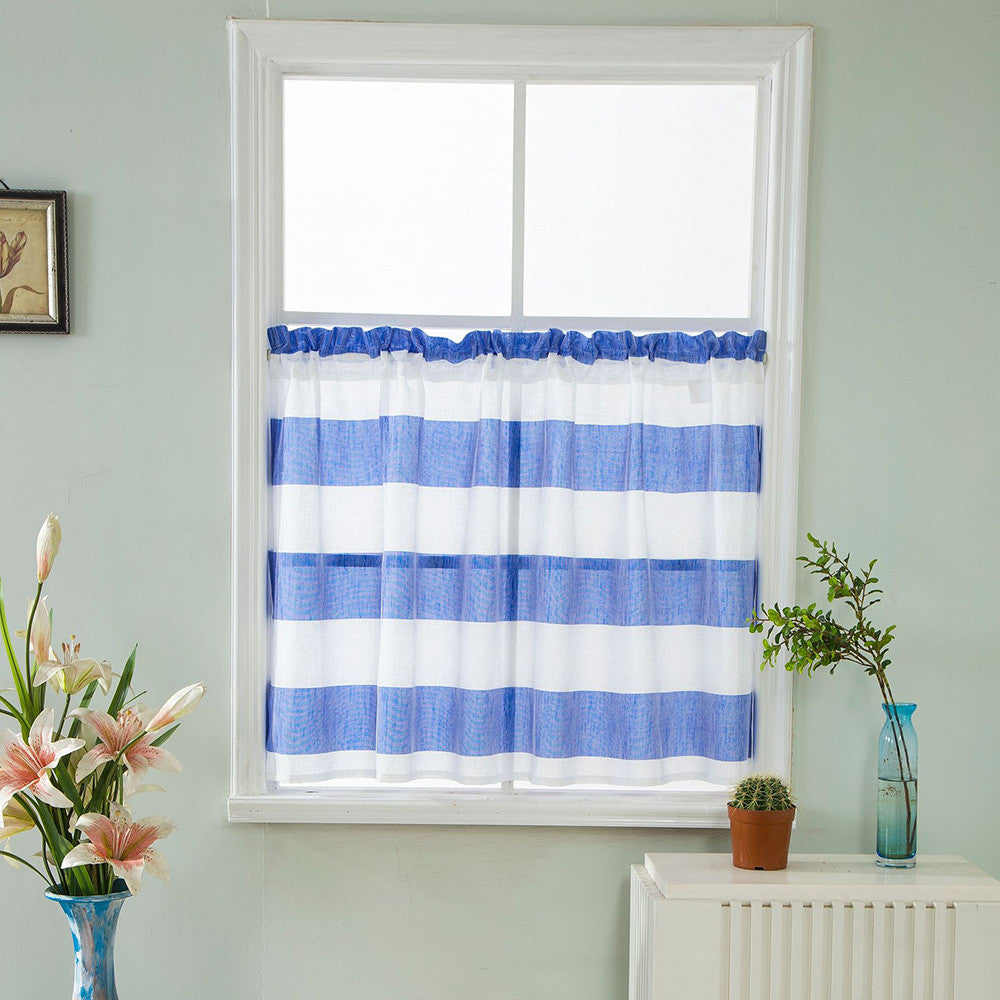 Costbuys  Curtain living room window Valance Curtains Extra Wide and Short Window Treatment Kitchen Living Bathroom 10.15 - Sky