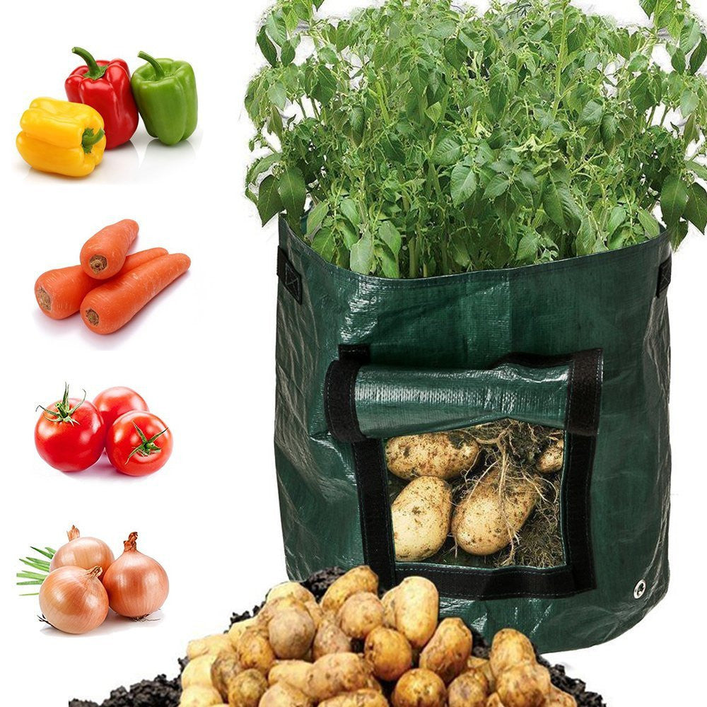 Costbuys  Plant Grow Bag Potato Grow Planter PE Cloth Tomato Planting Container Bag Thicken Garden Pot Garden Supplies