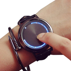 Creative Personality Minimalist touch LED watch Smart Electronic quartz watch women men
