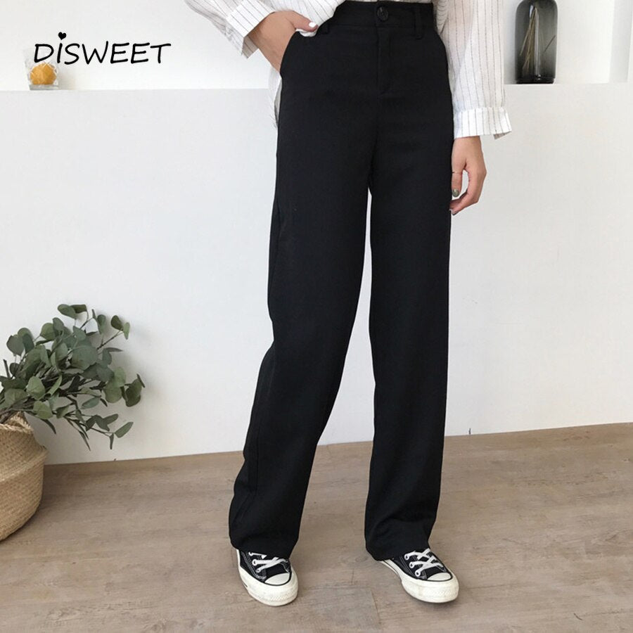 Loose High Waist Casual Long Trousers Womens Pants Womens Pants Full Length Pants