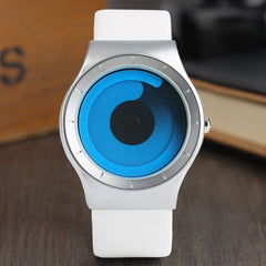 Creative Men's Watches Turntable Blue Swirl Pointer Fashion Unisex Couple Gifts Clock Male Female Wristwatches