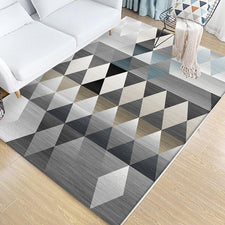 Nordic Style Carpet Rug For Living Room Bedroom Minimalist Geometric Pattern Floor Mats Anti-Slip Soft Kids Crawling Area Rugs