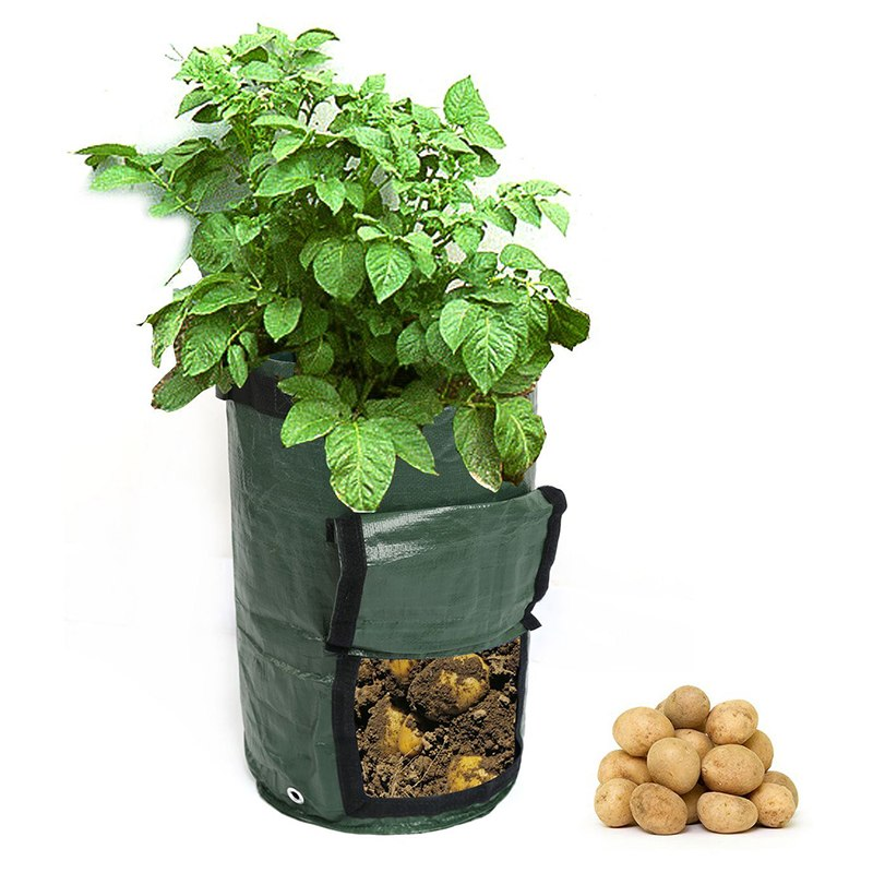 Costbuys  Potato Planting PE Bags Cultivation Garden Pots Planters Vegetable Planting Bags Grow Bags Farm Home Garden Supplies