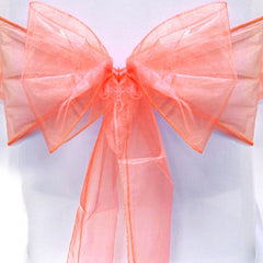 5pcs Organza Sashes Chair Cover Bows Sash Wider Sash Fuller Bows for Wedding Party Birthday Decoration (Green)