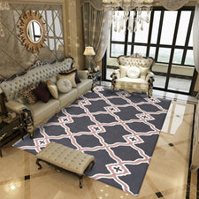 New Geometric Pattern Living Room Carpet Decoration Hairless Polyester Coffee Table Floor Mat Easy To Clean Bedroom Rug