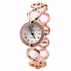 Luxury Women Bracelet Watches Fashion Women Dress Wristwatch Ladies Quartz Stainless Steel Rose Gold Watch