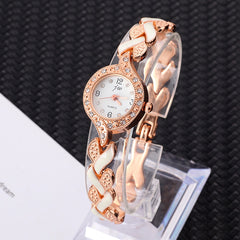 Bracelet watches Women Clock Luxury Stainless steel Quartz Watch Ladies Dress Crystal Wristwatches