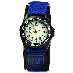 Students Sports Watches Fabric Strap Climbing Military Quartz Wrist Watches Waterproof Strong Luminous Kids Watches