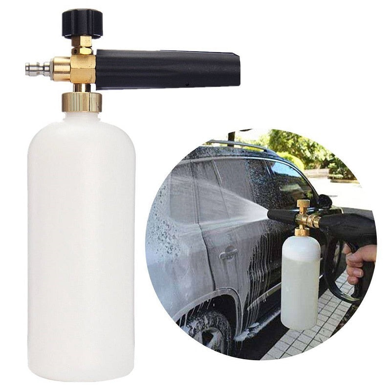 Costbuys  Foam Cannon Snow Foam Lance 1L Bottle Snow Foam Nozzle Injector Soap Foamer Garden Foam Water Gun Gardening supplies