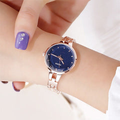 Women Stainless Steel Watch Ladies Crystal Bright Star Bracelet Watches Dress