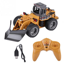 HUINA1586 1:18 2.4G Remote Control Snow Clearer Model Vehicle RC Electric Engineering Truck Snowplows 6 Channels car toy kids