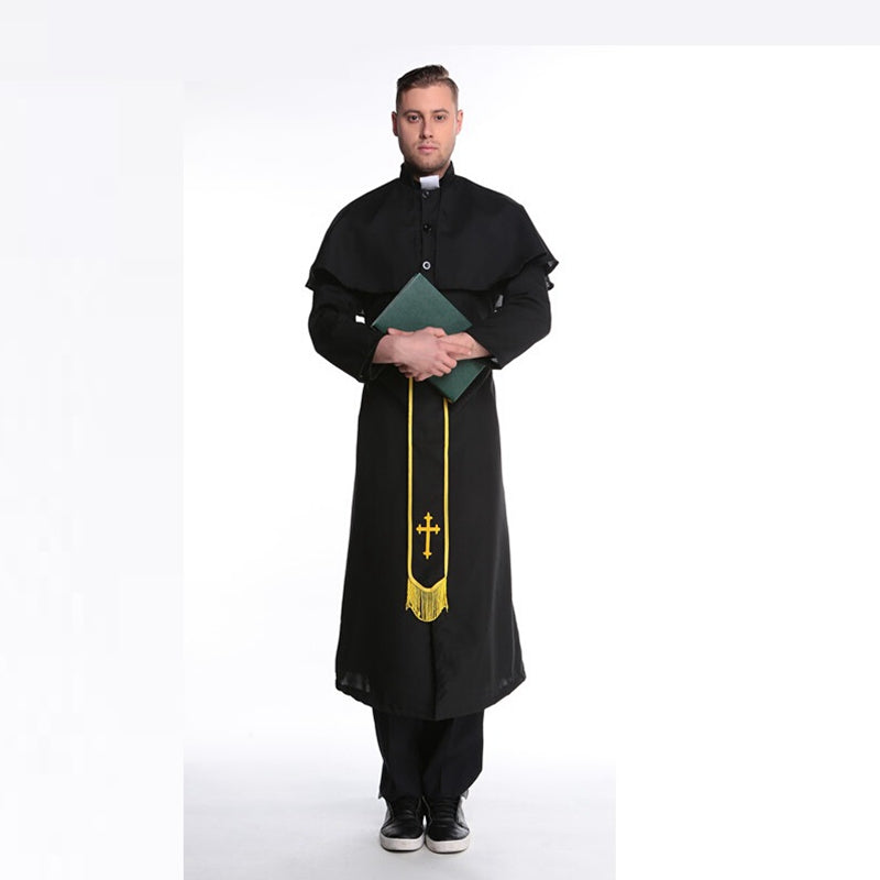 Costbuys  Halloween Costumes For Men Halloween Medieval Costume Men Christian Vintage Renaissance Monk Cosplay - One Size / monk