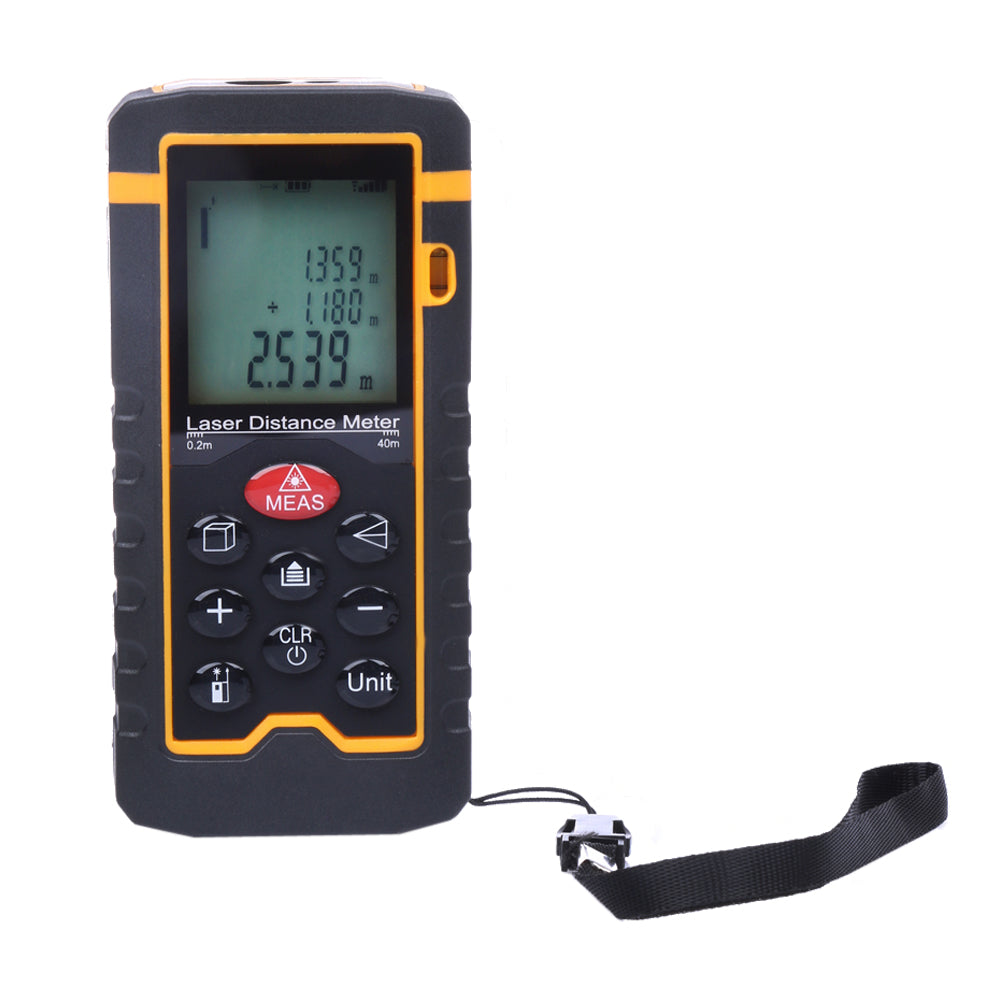 Costbuys  Handheld Laser Distance Meter 40M/131ft/1575in Mini Laser Rangefinder Laser Tape Range Finder Diastimeter Measure