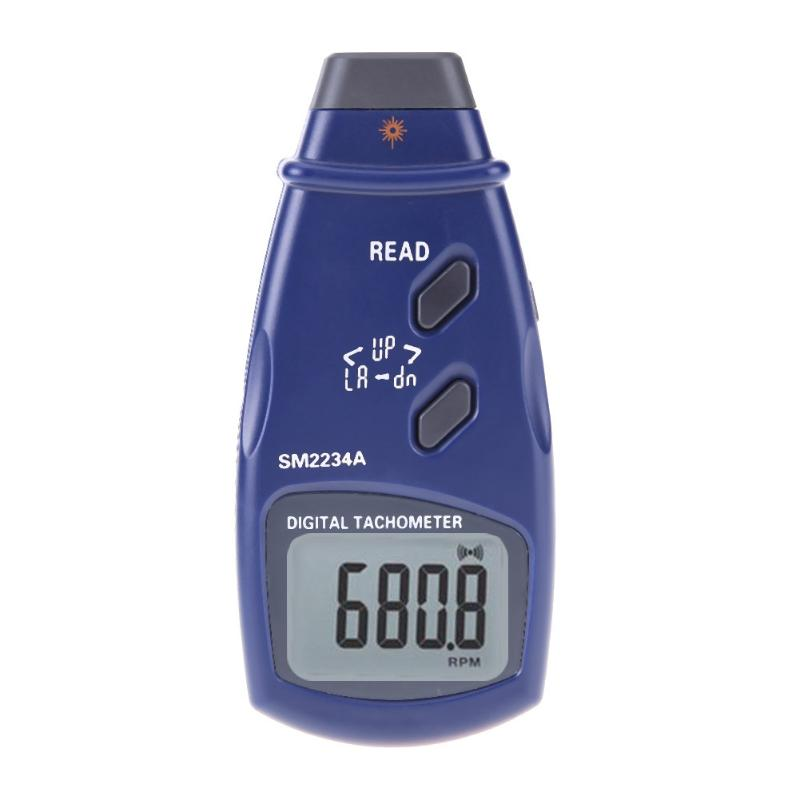 Costbuys  High Accuracy Handheld 2 in 1 Tachometer Optoelectronic Digital Photo Laser Contact Tachometer Speed 99999 RPM Meter T