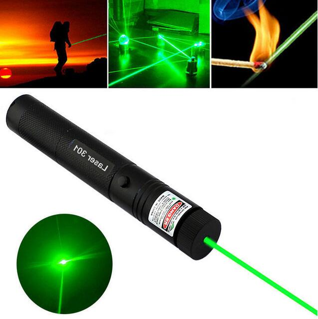 Costbuys  High Power Adjustable Focus Burning 10000m Green Laser Pointer Pen 301 532nm Continuous Line 500 to 10000 meters Laser